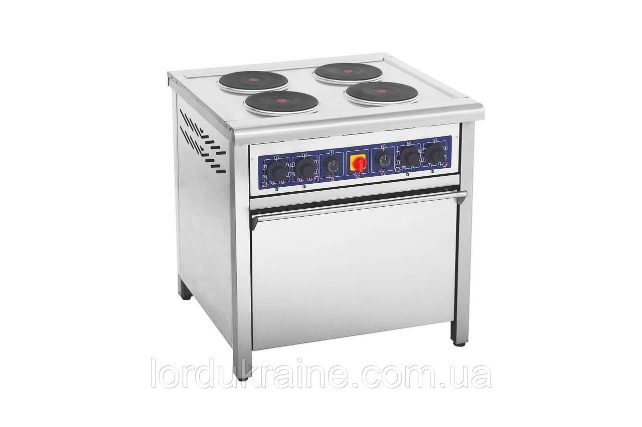 Плита электрическая профессиональная с духовкой ПЕД-4КР Кий-В