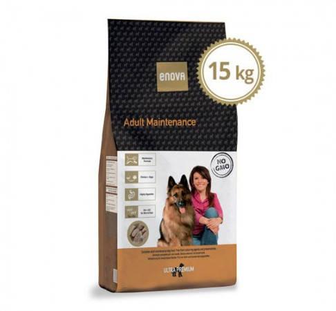 ENOVA ADULT MAINTENANCE 15kg Полнорационный сухой корм с курицей и рисом для взрослых собак больших пород, фото 2