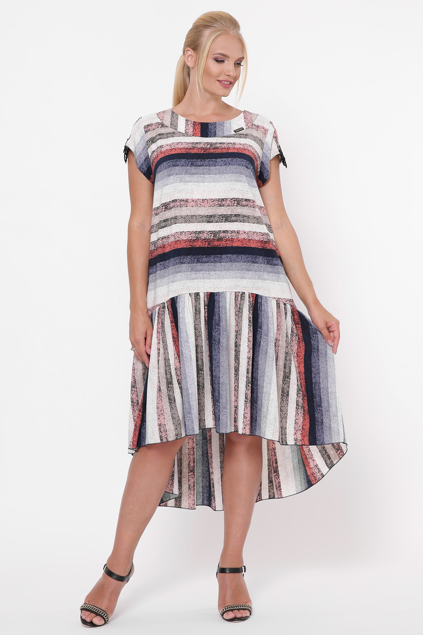Сукня-трапеція літній для повних Герда