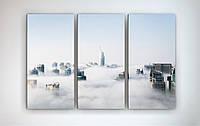 Модульная картина на холсте Город в облаках
