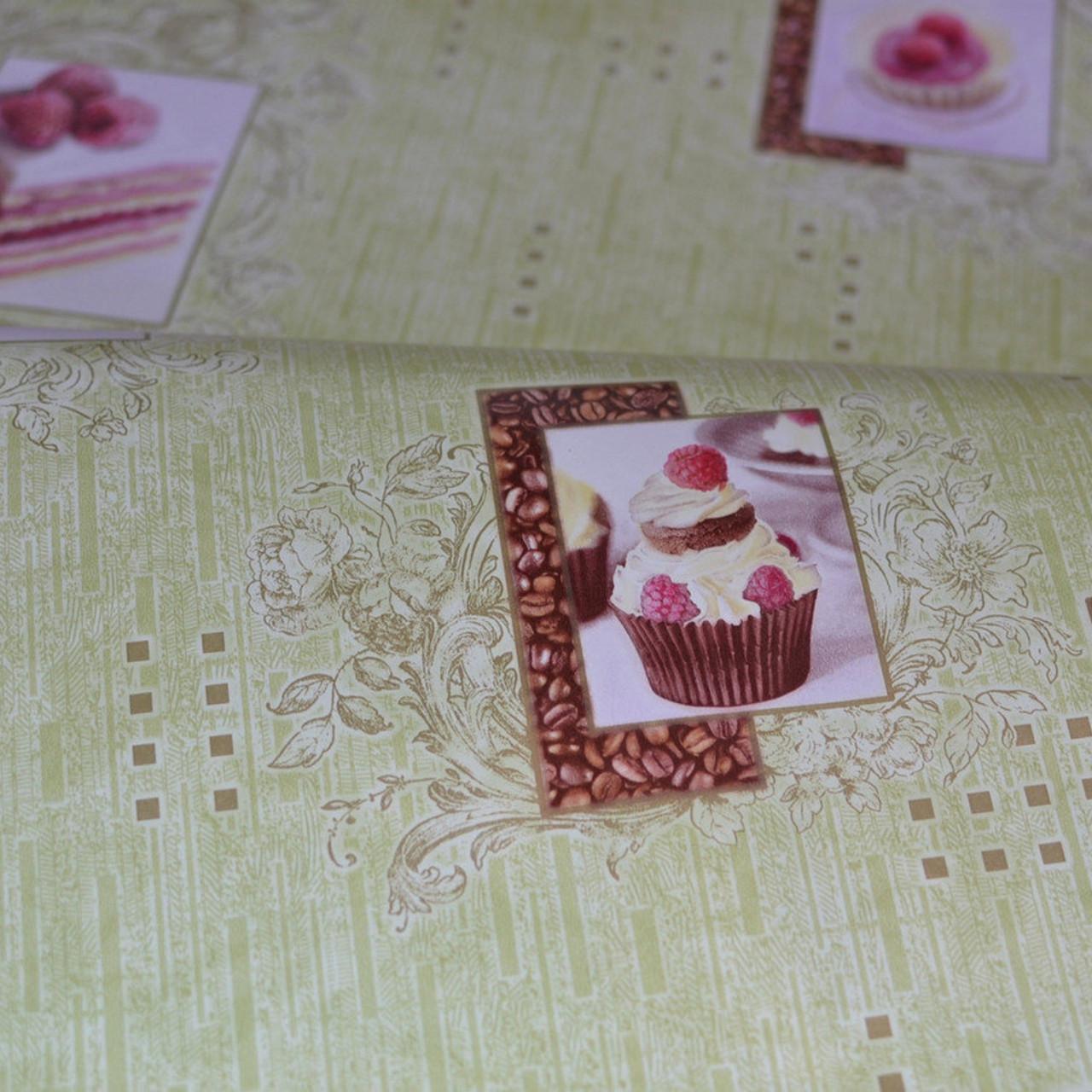Обои, обои на стену, бумажные влагостойкие, торт, бисквит, капкейк, B56,4 Бисквит 8036-04Х, 0,53*10м