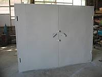 Ворота гаражные 2,7х2,0 м металл 2,0 мм в двойной рамке