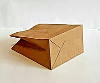Пакет паперовий крафт для магазинів без ручок 220x190x120 мм