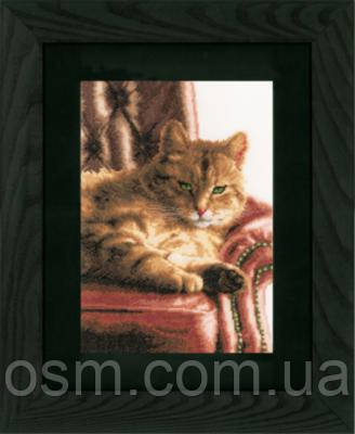 "PN-0146177 Набор для вышивки крестом LanArte Relaxed Tabby ""Отдыхающий Тэбби"""