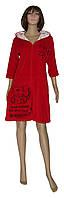 Снова в наличии стильные женские велюровые халаты Simple Cat Red ТМ УКРТРИКОТАЖ!