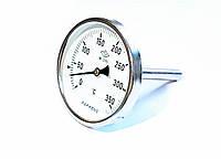 """Термометр D 100 мм/350°С биметаллический трубчатый с погружной гильзой L-110 мм 1/2"""" PAKKENS Турция"""