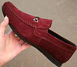 Style! Tommy Hilfiger! Мужские в стиле Томми Хилфигер бордо замшевые мокасины с пряжкой, фото 2