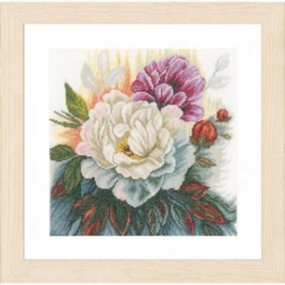 """PN-0165377 Набір для вишивки хрестом LanArte White Rose """"Біла троянда"""""""