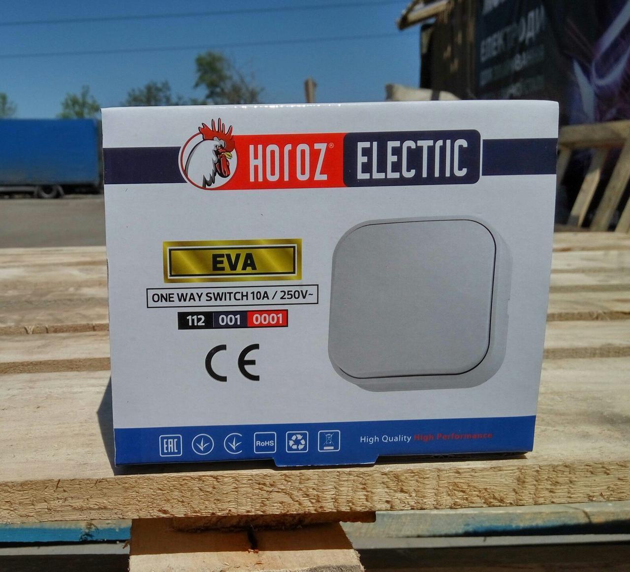 Выключатель 1кл. нар. уст. Horoz 112-001-0001