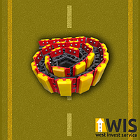 Ланцюг гусениці фрези дорожньої Wirtgen W100F W1000F, фото 1