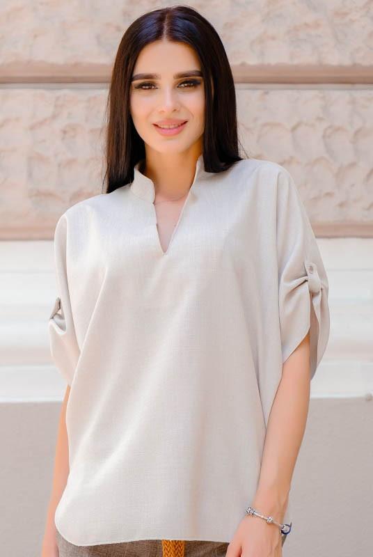 Летняя рубашка Фрейм лен
