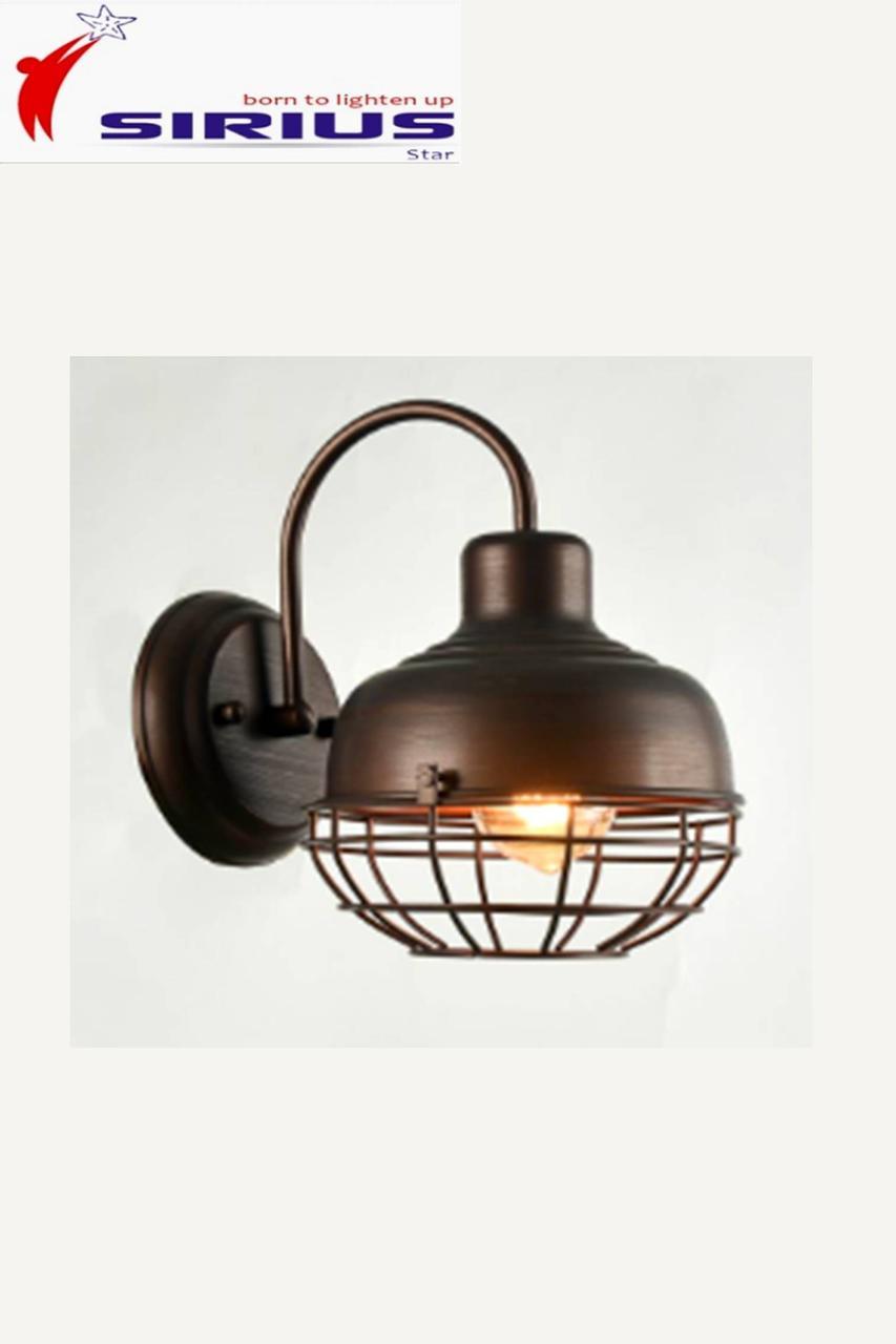 Брутальное бра в индустриальном стиле loft, на одну лампу Sirius YG 18329-1W