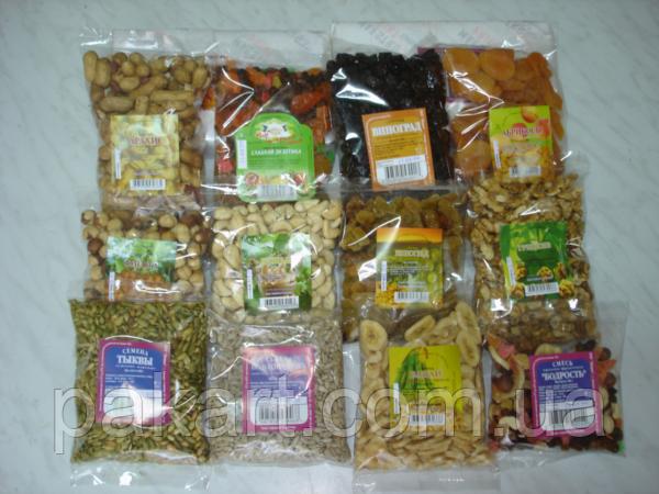 Фасовка орехов, сухофруктов, семян