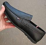 Style! Tommy Hilfiger! Мужские в стиле Томми Хилфигер черные замшевые туфли с пряжкой, фото 8