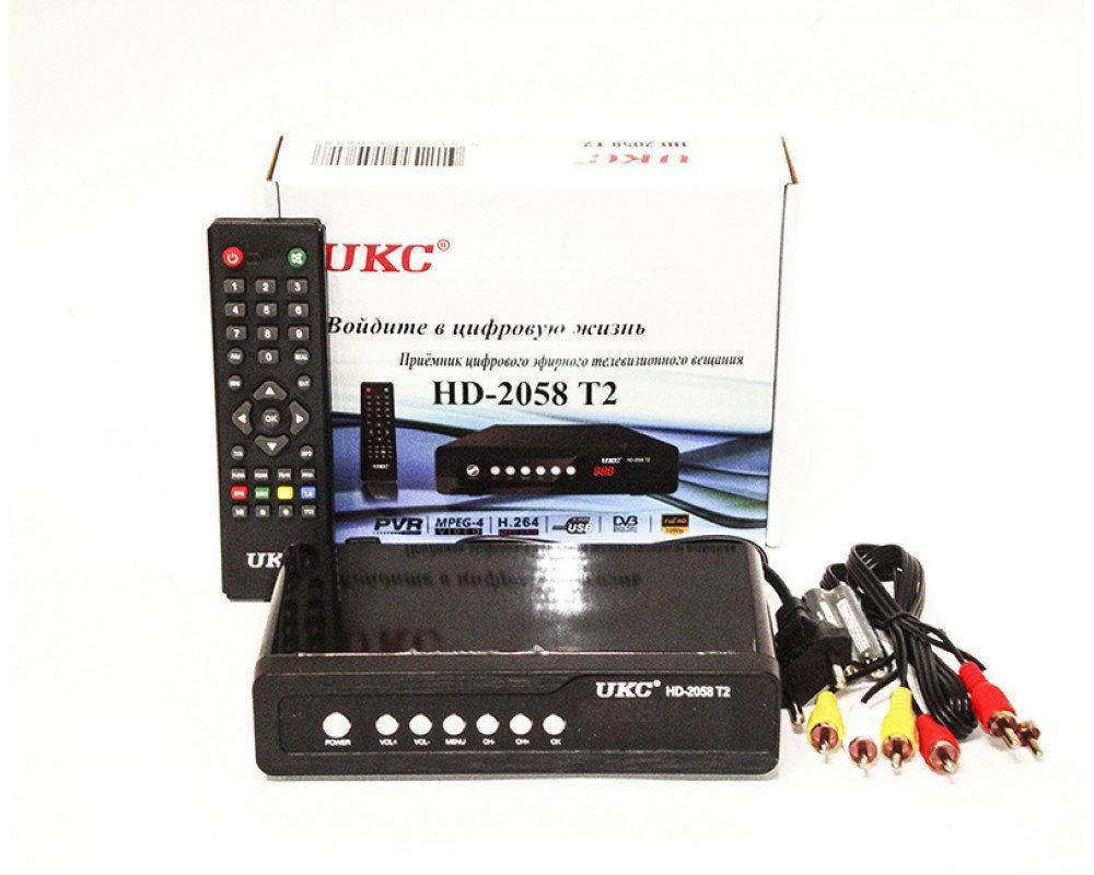"""Цифровой эфирный ресивер T2 """"UKC"""" HD-2058 Metal c поддержкой wi-fi"""