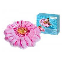 Надувной плотик Intex Матрас 58787 Розовый цветок, 142см