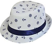 Шляпа челентанка комби морячек