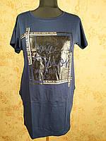 Платье-туника с стразами 412