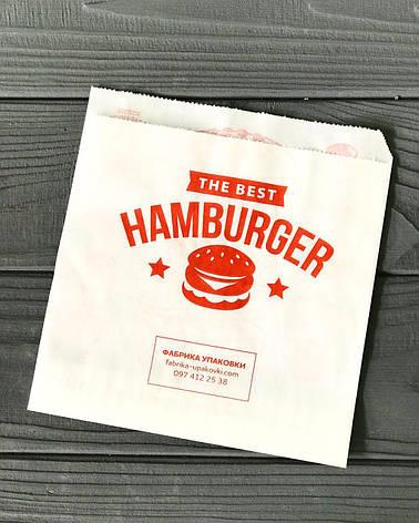 Упаковка бумажная для Бургера 64Ф, фото 2