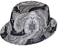 Шляпа челентанка комби черные огурцы