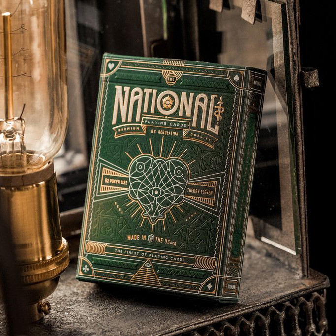 Карты игральные | Green National Playing Cards by Theory 11