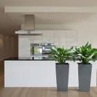 """Кашпо для кімнатних рослин, """"Фінезія"""", 140мм, з вкладом, Капучіно, фото 5"""