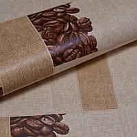 Шпалери для стін паперові вологостійкі під плитку кава 0,53*10м