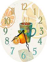 Часы овальные настенные HOT DRINK 46*60 d466023
