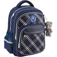 Рюкзак школьный для мальчика с брелком Kite Сollege line K18-735M-2