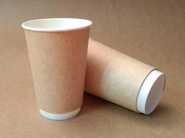 """Бумажный стакан 330мл """"Крафт"""" двухслойный"""