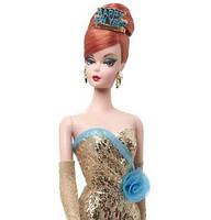 Коллекционная кукла Барби с Новым Годом Силкстоун / Happy New Year Barbie Doll, фото 2