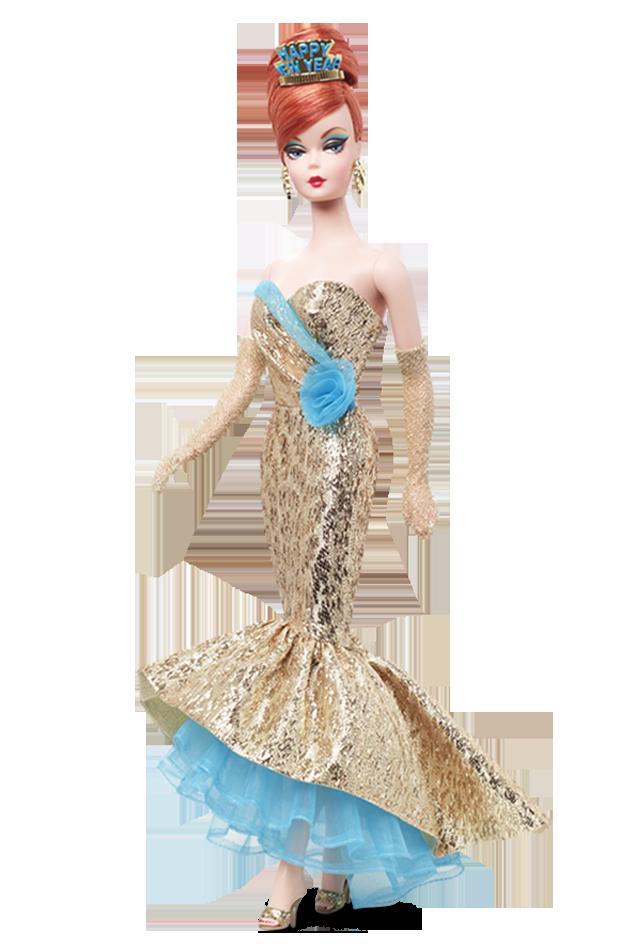 Коллекционная кукла Барби с Новым Годом Силкстоун / Happy New Year Barbie Doll