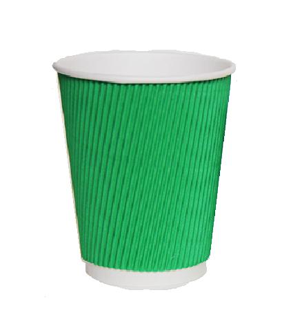 Стакан гофрированный 185 мл Зеленый, фото 2