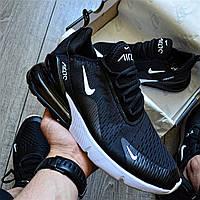"""Мужские кроссовки Nike Air Max 270 """" Black/White"""" черные с белым 41-44рр. Живое фото. Топ реплика"""