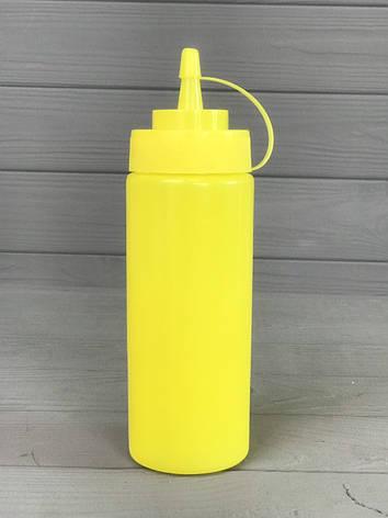 Диспенсер для соусов и сиропов 350 мл. Жёлтый, фото 2