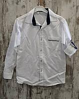Рубашка для мальчиков белая, рукав трансформер. размер 10-14 лет.