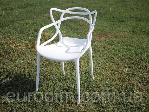 Стул пластиковый МАСТЕРС белый, фото 2