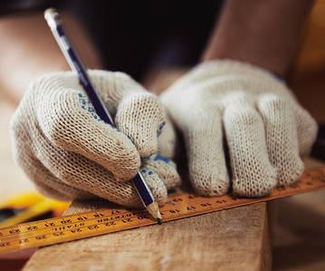 Робочі рукавички трикотажні