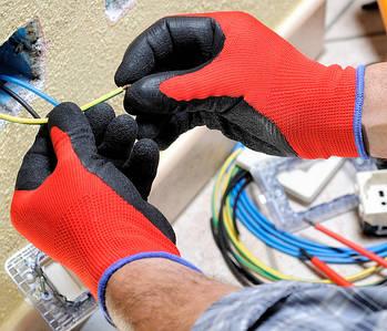 Робочі рукавички з полімерним покриттям
