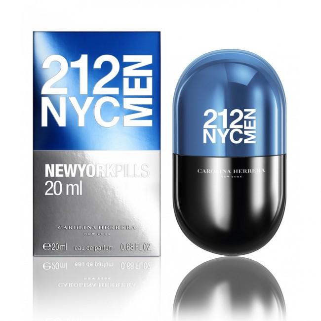 Туалетная вода мужская (духи)  Carolina Herrera 212 NYC Men Pills 100 мл