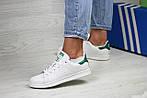 Женские кроссовки Adidas Stan Smith ( бело - зеленые ), фото 2