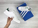 Женские кроссовки Adidas Stan Smith ( бело - зеленые ), фото 3