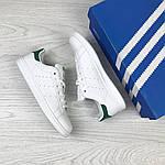 Женские кроссовки Adidas Stan Smith ( бело - зеленые ), фото 4