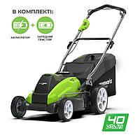 Газонокосарка акумуляторна Greenworks G40LM45K4