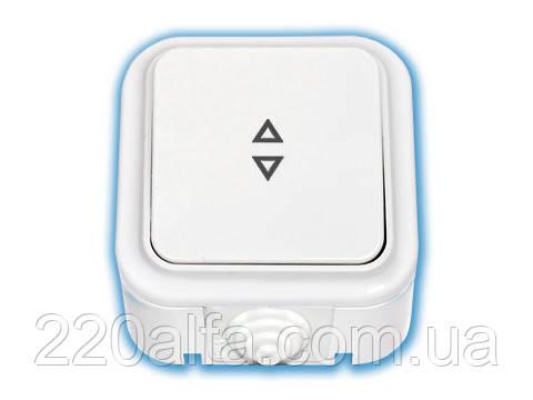 Выключатель для управления цепями с двух и более мест (проходной), Bylectrica Пралеска Аква (белый)