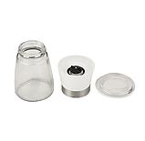 Набор стеклянных мельниц для специй белая и черная 2 шт, фото 3