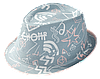 Шляпа челентанка комби тип-топ серый