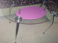 Овальный стеклянный обеденный стол арт.010