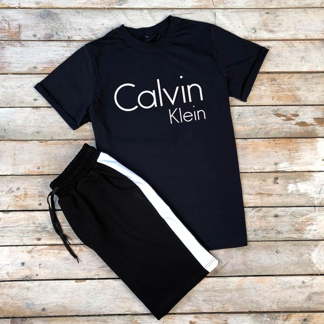 Футболка + шорты  Сalvin Klein(мужской летний костюм ).Мужской комплект футболка и шорты ТОП качество!!!