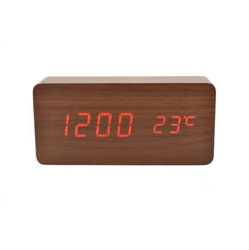 Настольные часы VST-862-3 с оранжевой подсветкой
